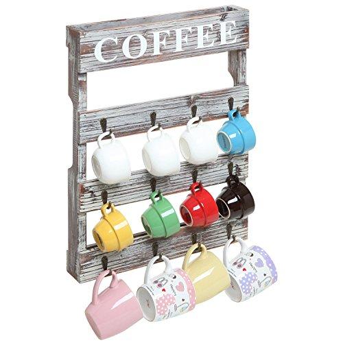 Country-Rustic-Style-Brown-Wood-12-Hook-Wall-Mounted-Coffee-Mug-Rack-Tea-Cup-Holder-Storage-Organizer-0