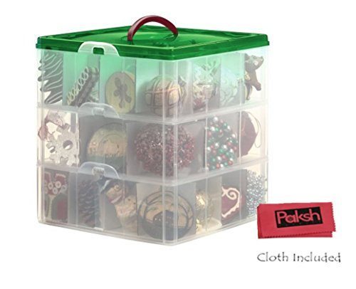Cristmas-storage-Bundle-Christmas-Plastic-Ornament-Storage-Container-3-Stackable-Snap-Together-Box-Trays-Bundled-with-cloth-0-0