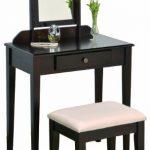 Crown-Mark-Iris-Vanity-TableStool-Espresso-Finish-with-Beige-Seat-0