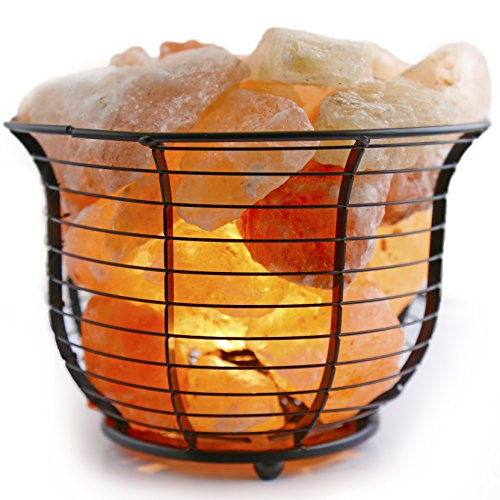 Crystal-Allies-Gallery-Natural-Himalayan-Salt-Wire-Mesh-Basket-Lamp-w-Dimmable-Switch-6ft-UL-Listed-Cord-and-15-Watt-Light-Bulb-0