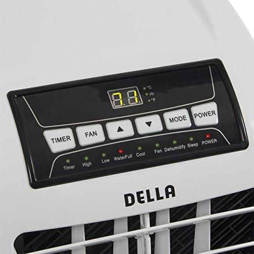 DELLA-048-GM-48266-8000-BTU-Portable-Air-Conditioner-Cooling-Fan-Dehumidifier-AC-Remote-Control-Window-Vent-Kit-White-0-0