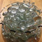 Dashington-Flat-Clear-Marbles-Pebbles-25-Pound-Bag-for-Vase-Filler-Table-Scatter-Aquarium-Decor-Gravel-Accents-250-300-Marbles-Per-Bag-0-0