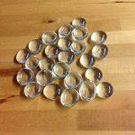 Dashington-Flat-Clear-Marbles-Pebbles-25-Pound-Bag-for-Vase-Filler-Table-Scatter-Aquarium-Decor-Gravel-Accents-250-300-Marbles-Per-Bag-0-1
