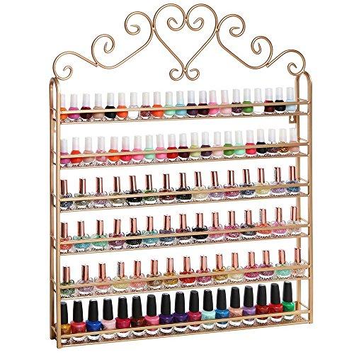 DazoneTM-Wall-Mountable-6-Tiers-Nail-Polish-Rack-Organizer-Hold-120-Bottles-Nail-Polish-Shelf-0