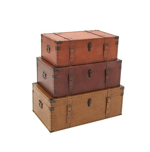 Deco-79-56670-Wood-Leather-Trunks-Set-of-3-322926-0-0