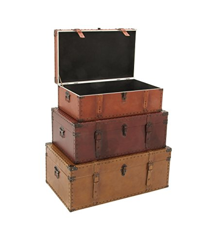 Deco-79-56670-Wood-Leather-Trunks-Set-of-3-322926-0-1