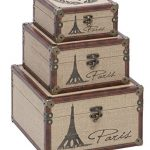 Deco-79-Wood-Eiffel-Tower-Burlap-Box-12-by-10-by-8-Inch-Black-Set-of-3-0