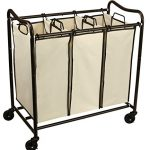 DecoBros-Heavy-Duty-3-Bag-Laundry-Sorter-Cart-Bronze-0-0