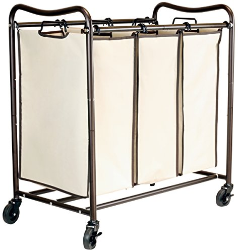 DecoBros-Heavy-Duty-3-Bag-Laundry-Sorter-Cart-Bronze-0