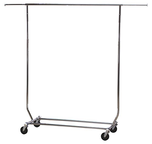 DecoBros-Supreme-Commercial-Grade-Garment-Rolling-Rack-Chrome-Finish-0-0