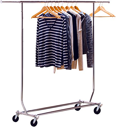 DecoBros-Supreme-Commercial-Grade-Garment-Rolling-Rack-Chrome-Finish-0