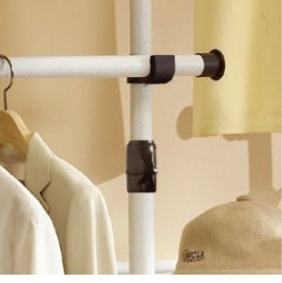 Deluxe-4-Tier-Shelf-Hanger-with-Curtain-Clothing-Rack-Closet-Organizer-0-1