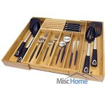Deluxe-Expandable-Bamboo-Kitchen-Drawer-Organizer-w-Built-In-Solid-Bamboo-Knife-Block-100-Eco-Friendly-Adjustable-Bamboo-Kitchen-Utensil-Cutlery-Tray-Patent-Pending-Original-Design-0-0