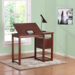 Dorel-Living-Drafting-and-Craft-Counter-Height-Desk-Espresso-0