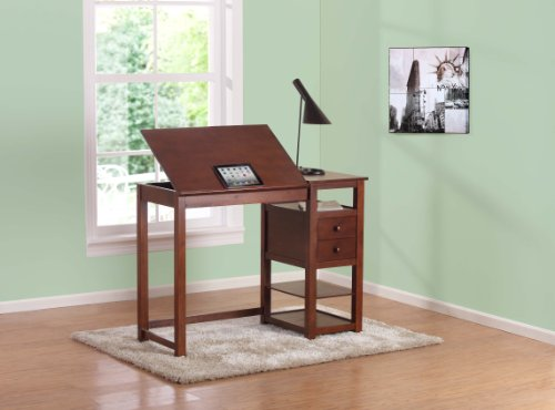 Dorel-Living-Drafting-and-Craft-Counter-Height-Desk-Espresso-0