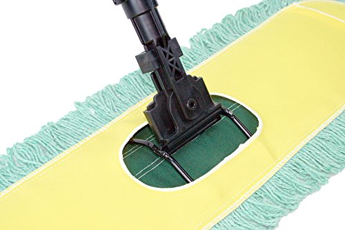 Dust-Mop-24-with-Industrial-Telescopic-Handle-and-2-Laundry-Ready-Dry-Floor-Microfiber-Yarn-Heads-Includes-Patented-360-Swivel-Quick-Connect-Made-in-the-USA-by-Noco-Tidy-Home-TM-0-0