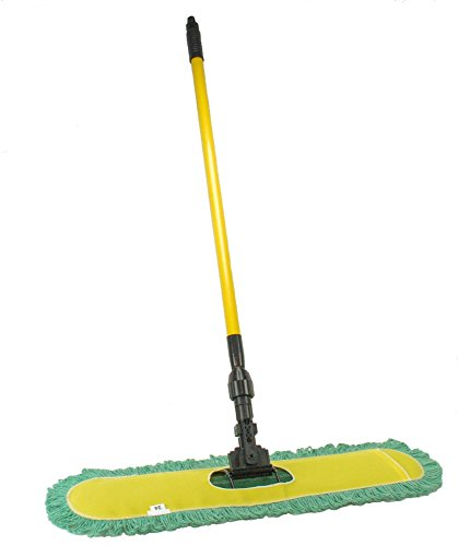 Dust-Mop-24-with-Industrial-Telescopic-Handle-and-2-Laundry-Ready-Dry-Floor-Microfiber-Yarn-Heads-Includes-Patented-360-Swivel-Quick-Connect-Made-in-the-USA-by-Noco-Tidy-Home-TM-0-1