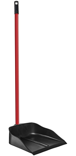 Dustpan-with-Handle-by-Ravmag-Solid-Natural-Rubber-Construction-40-Long-Handled-Dust-Pan-Stand-Up-Design-Accommodates-Any-Broom-Hand-Brush-Best-Dustpans-for-Home-Lobby-Shop-0