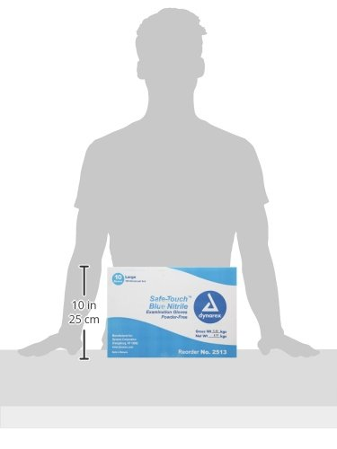 Dynarex-Nitrile-Exam-Glove-non-latex-Powder-Free-Large-100-Count-Pack-of-10-0-0