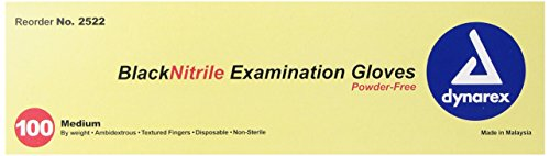 Dynarex-Nitrile-Exam-Gloves-Black-Medium-100-Count-Pack-of-10-0-0