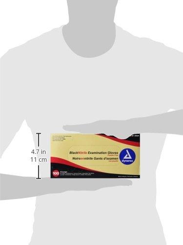 Dynarex-Nitrile-Exam-Gloves-Black-X-Large-100-Count-Pack-of-10-0-0