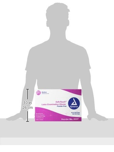 Dynarex-Safe-Touch-Latex-Exam-Glove-Powder-Free-Medium-100-Count-Pack-of-10-0-1