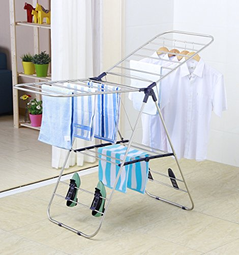 EWEIS-HomeWares-Heavy-Duty-Stainless-Steel-Clothes-Drying-Rack-58-L-x-235-W-Inch-0-0