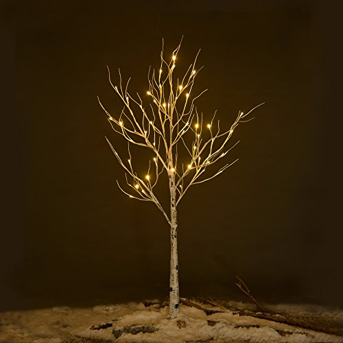 Ecolinear-Prelit-Birch-Tree-48-LEDs-96-LEDs-Silver-Twig-Warm-White-Light-White-Branches-Home-Festival-Party-Christmas-Indoor-and-Outdoor-Use-0-0
