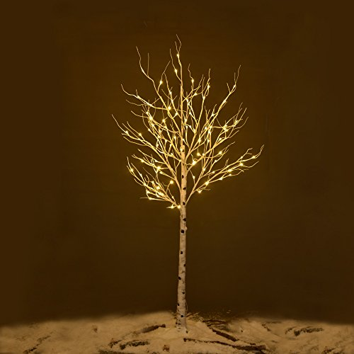 Ecolinear-Prelit-Birch-Tree-48-LEDs-96-LEDs-Silver-Twig-Warm-White-Light-White-Branches-Home-Festival-Party-Christmas-Indoor-and-Outdoor-Use-0