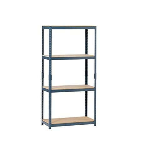 Edsal-HR153060-4-Tier-Steel-Storage-Shelving-1000lbs-Capacity-30-Width-x-60-Height-x-15-Depth-0