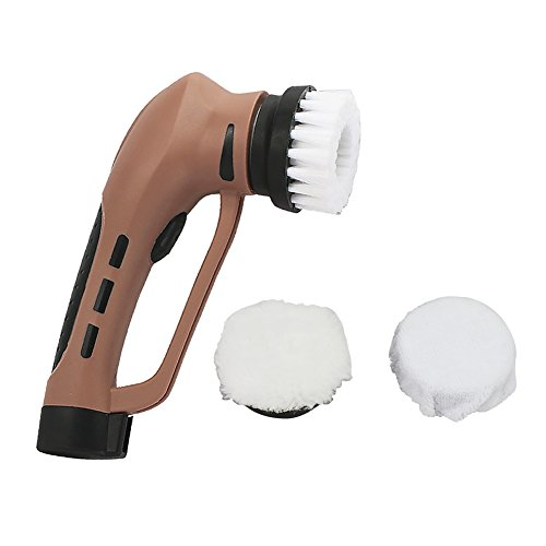 Electric-Shoe-Polisher-Portable-Power-Handheld-Shoe-Shine-Kit-with-Rechargeable-Battery-for-Leather-Bag-ShoesSofa-and-More-Brown-0