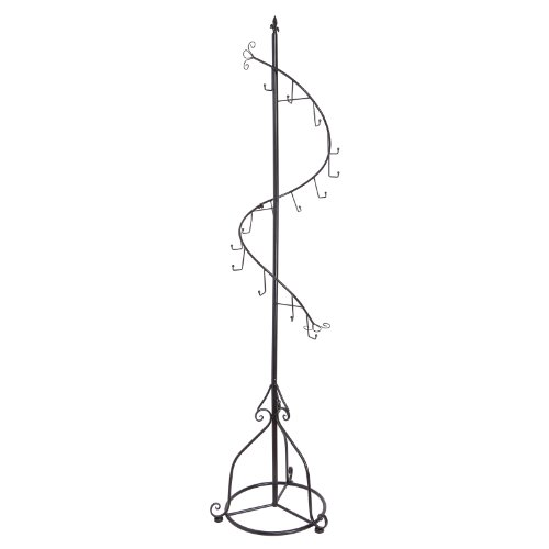 Elegant-Black-Metal-14-Hook-Spiral-Coat-Hanger-Bag-Display-Garment-Rack-Stand-0-0