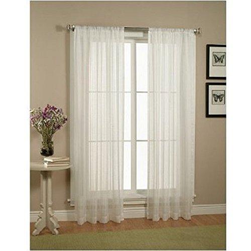 Elegant-Comfort-2-Piece-Solid-White-Sheer-Window-Curtainsdrapepanelstreatment-size-60×84-0