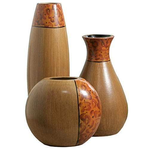 Elegant-Expressions-by-Hosley-Burlwood-Vases-Set-of-3-0
