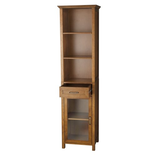 Elegant-Home-Fashion-Anna-Linen-Cabinet-with-Drawer-and-3-Shelf-0-0