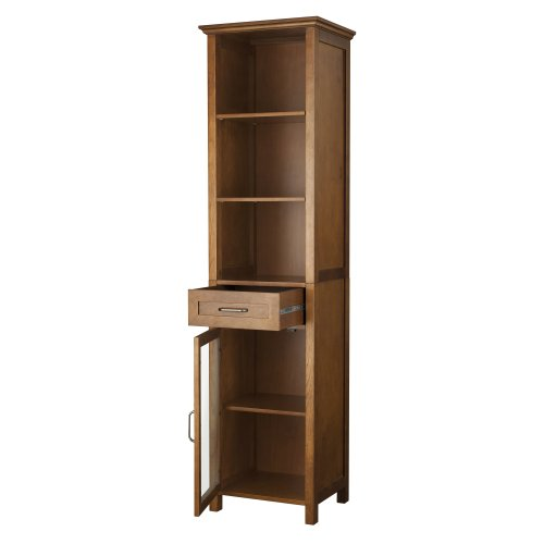 Elegant-Home-Fashion-Anna-Linen-Cabinet-with-Drawer-and-3-Shelf-0-1