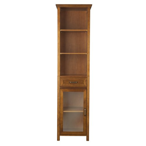 Elegant-Home-Fashion-Anna-Linen-Cabinet-with-Drawer-and-3-Shelf-0