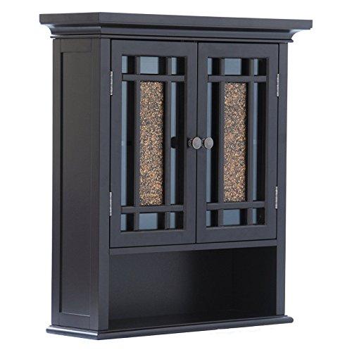 Elegant-Home-Windsor-Espresso-Bathroom-Wall-Cabinet-with-2-Doors-and-1-Shelf-0-1