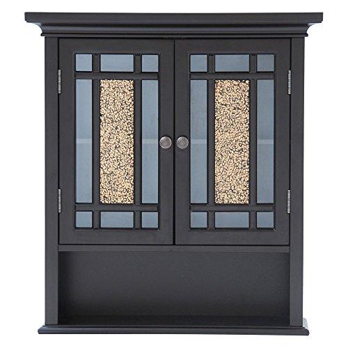Elegant-Home-Windsor-Espresso-Bathroom-Wall-Cabinet-with-2-Doors-and-1-Shelf-0