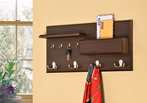 Entryway-Coat-Rack-Mail-Envelope-Storage-and-Key-Holder-Hooks-in-Cappuccino-Finish-0