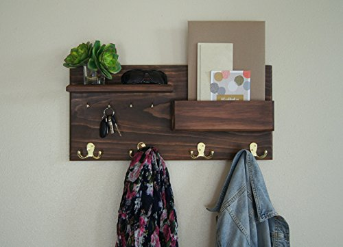 Entryway-Coat-Rack-Mail-Storage-and-Key-Hooks-Custom-Handmade-0-0