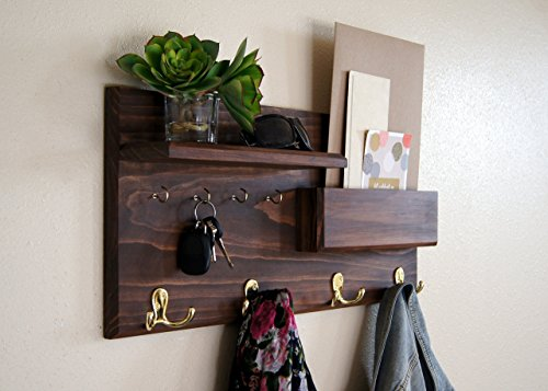 Entryway-Coat-Rack-Mail-Storage-and-Key-Hooks-Custom-Handmade-0
