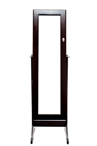 Espresso-Dark-Brown-Mirrored-Jewelry-Cabinet-Armoire-Stand-Mirror-Necklaces-Bracelets-Rings-0-0