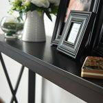 Espresso-Finish-3-Tier-X-Design-Occasional-Console-Sofa-Table-Bookshelf-0-1