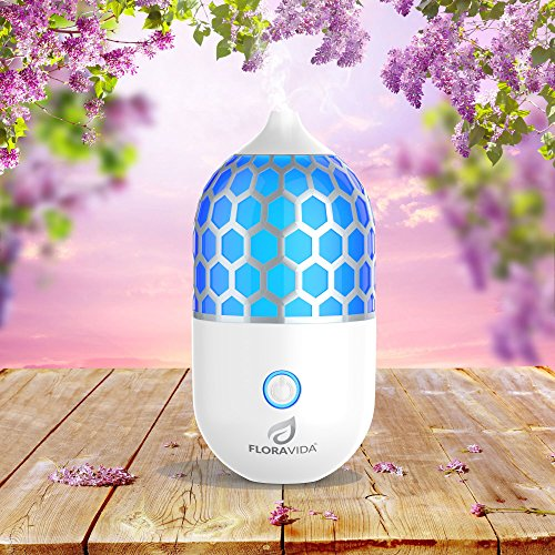 Essential-Oil-Diffuser-Ultrasonic-Cool-Mist-Aromatherapy-Multi-Color-LED-Light-Whisper-Quiet-3-Hour-Auto-Shut-off-Portable-for-Room-Home-Office-or-Yoga-Studio-0