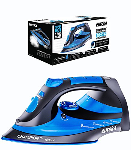 Eureka-Champion-Super-Hot-1500-Watt-Iron-Powerful-Steam-Surge-Technology-Blue-0