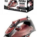Eureka-Razor-Powerful-Steam-Iron-Burst-Non-Stick-Ceramic-SolePlate-with-3-Way-Auto-Shut-Off-and-Anti-Drip-Super-Hot-1500-Watt-Iron-in-Marsala-Pouch-Included-0