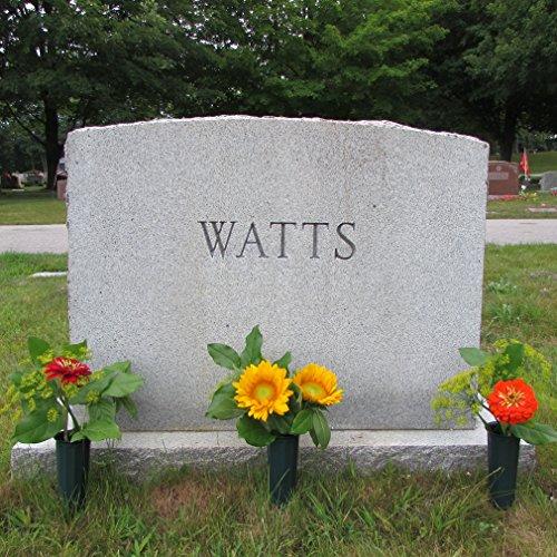 Evelots-Set-Of-6-Cemetery-Grave-Patriotic-Memorial-Veterans-Flower-Cone-Vases-7-0-0