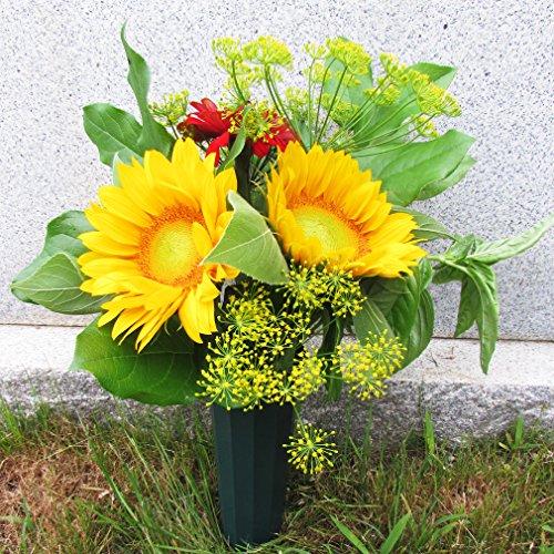 Evelots-Set-Of-6-Cemetery-Grave-Patriotic-Memorial-Veterans-Flower-Cone-Vases-7-0-1