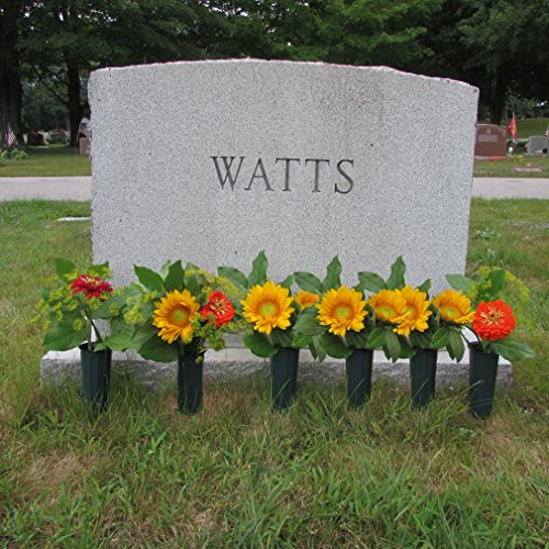 Evelots-Set-Of-6-Cemetery-Grave-Patriotic-Memorial-Veterans-Flower-Cone-Vases-7-0